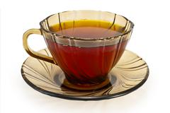 tea in a cup of brown - stock photo