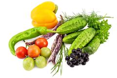 Vegetables from aronia Stock Photos