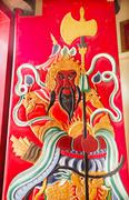 Guan yu door tin hau temple,sea godess, stanley, hong kong Stock Photos