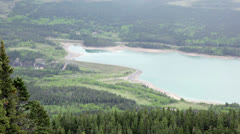 Barrier Lake Dam Stock Footage