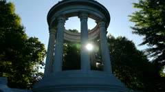 Classical Columns with Lens Flare Stock Footage