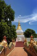 thai temple in north of thailand - stock photo