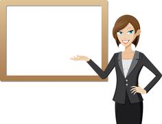 Stock Illustration of presentation girl