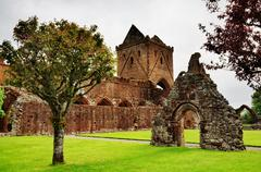 View of Sweetheart Abbey, Dumfries and Galloway - stock photo