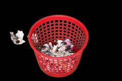 Trash Bin Time Lapse Stock Footage
