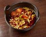 Chinese meat soup with vegetables Stock Photos