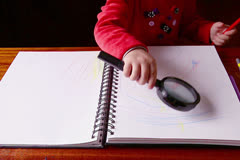 Baby Girls Ink Draws - stock footage