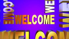 Welcome! 3D Text Stock Footage