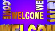 Stock Video Footage of Welcome! 3D Text