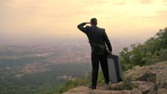 Business Opportunity Arriving Vacation Success Businessman Background HD - stock footage