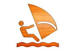 wooden icons travel voyage transport - stock illustration
