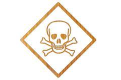 Icon skull with crossed bones Stock Illustration