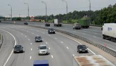 Highway at the outskirts of Moscow. time lapse - stock footage