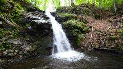 Waterfall in forest nature background in the ecological clean environment dee Stock Footage