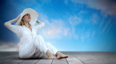 Timelapse view of relaxation woman Stock Footage