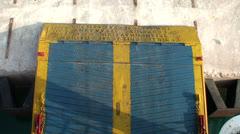 Ferry Boat Door Closing - stock footage