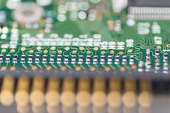 integrated circuit close up - stock photo
