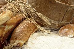 fresh and tasty bread - stock photo