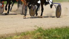 Equestrians  running horses Stock Footage