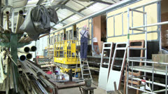 Railway Carriages Undergoing Restoration Stock Footage
