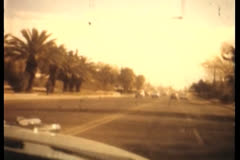 Vintage Driving Montage in Sepia Stock Footage