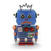 Sad vintage robot Stock Illustration