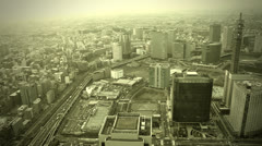 City view of skyscarpers Stock Footage