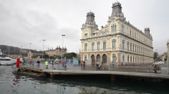 Barcelona's old customs building Stock Footage