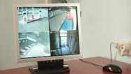 Stock Video Footage of Video Security Monitor