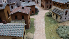 Close Miniature Model Set of San Gimignano Italy (HH) Stock Footage