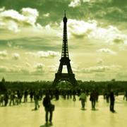 The eiffel tower in paris, france Stock Photos