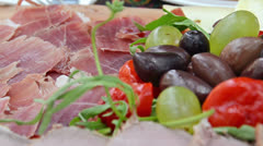 Antipasto meal Stock Footage