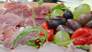 Stock Video Footage of antipasto meal