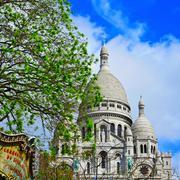 sacre-coeur basilica in paris, france - stock photo