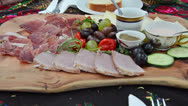 Stock Video Footage of antipasto plate
