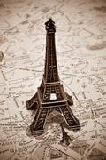the eiffel tower in paris, france - stock photo