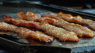 Stock Video Footage of Bacon Cooking