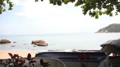 Idyllic beach in hongkong Stock Footage