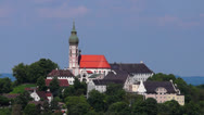 Stock Video Footage of Germany, Bavaria, Upper Bavaria, View of andechs abbey