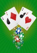 ace poker - stock illustration