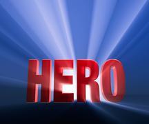 bold hero - stock illustration
