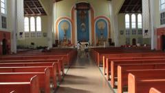 Dulce Nombre de Maria Cathedral-Basilica Guam Stock Footage