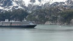 Glacier Bay Holland American cruise passing icebergs HD 1419 Stock Footage