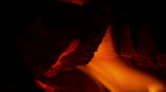 fire close up log - stock footage