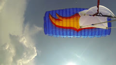Skydive parachute Stock Footage