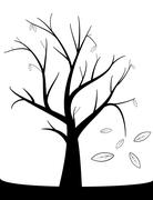 Stock Illustration of tree with fall leaves