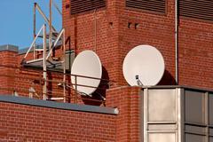Satellite antennas. Stock Photos