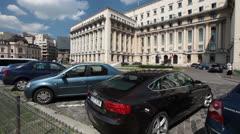 Internal Affairs Ministry Bucharest Romania Stock Footage