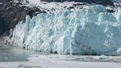 Glacier Bay Margerie tidewater 350 tall HD 1408 Stock Footage
