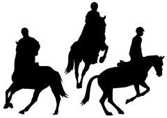 Hoeseback riding Stock Illustration